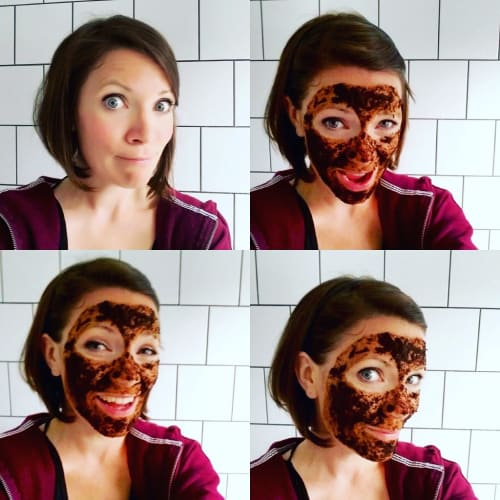 Coffee facemask