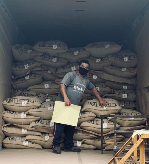 Coffee travelling across El Salvador