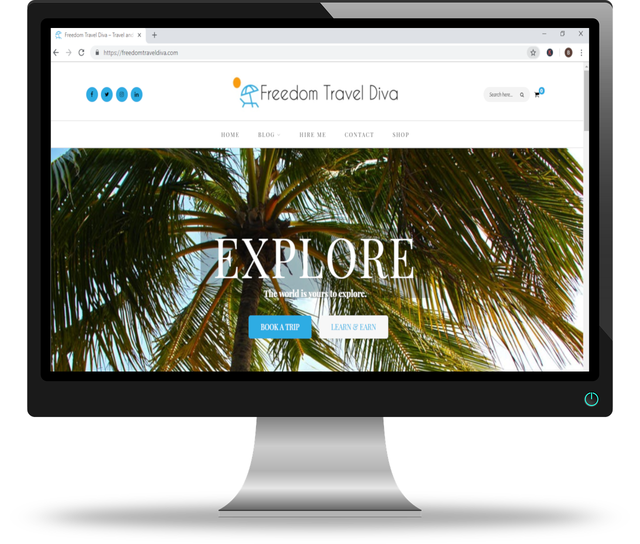 portfolio travel website screenshot