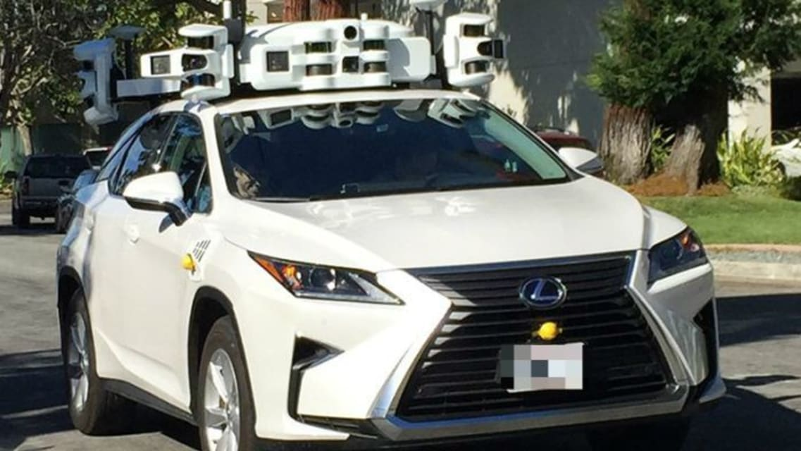 Apple Lexus RX 450h self-driving test car rear-ended during road testing in Silicon Valley