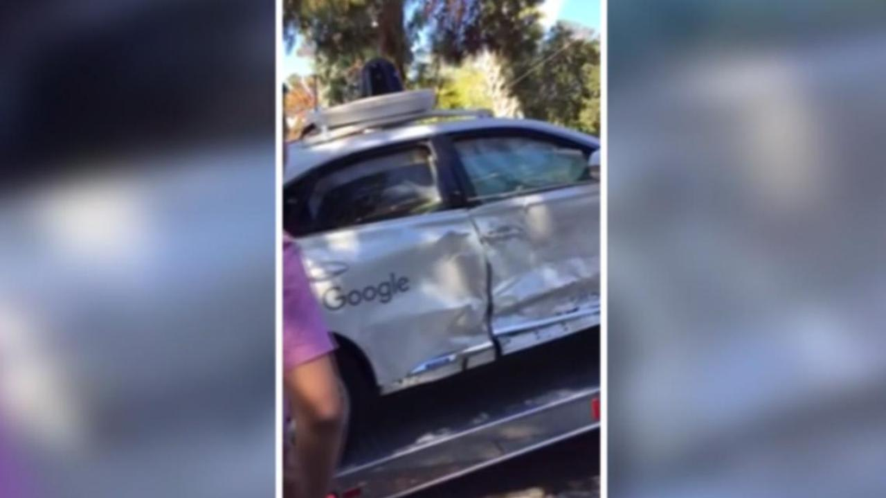 Google self-driving car crash in US