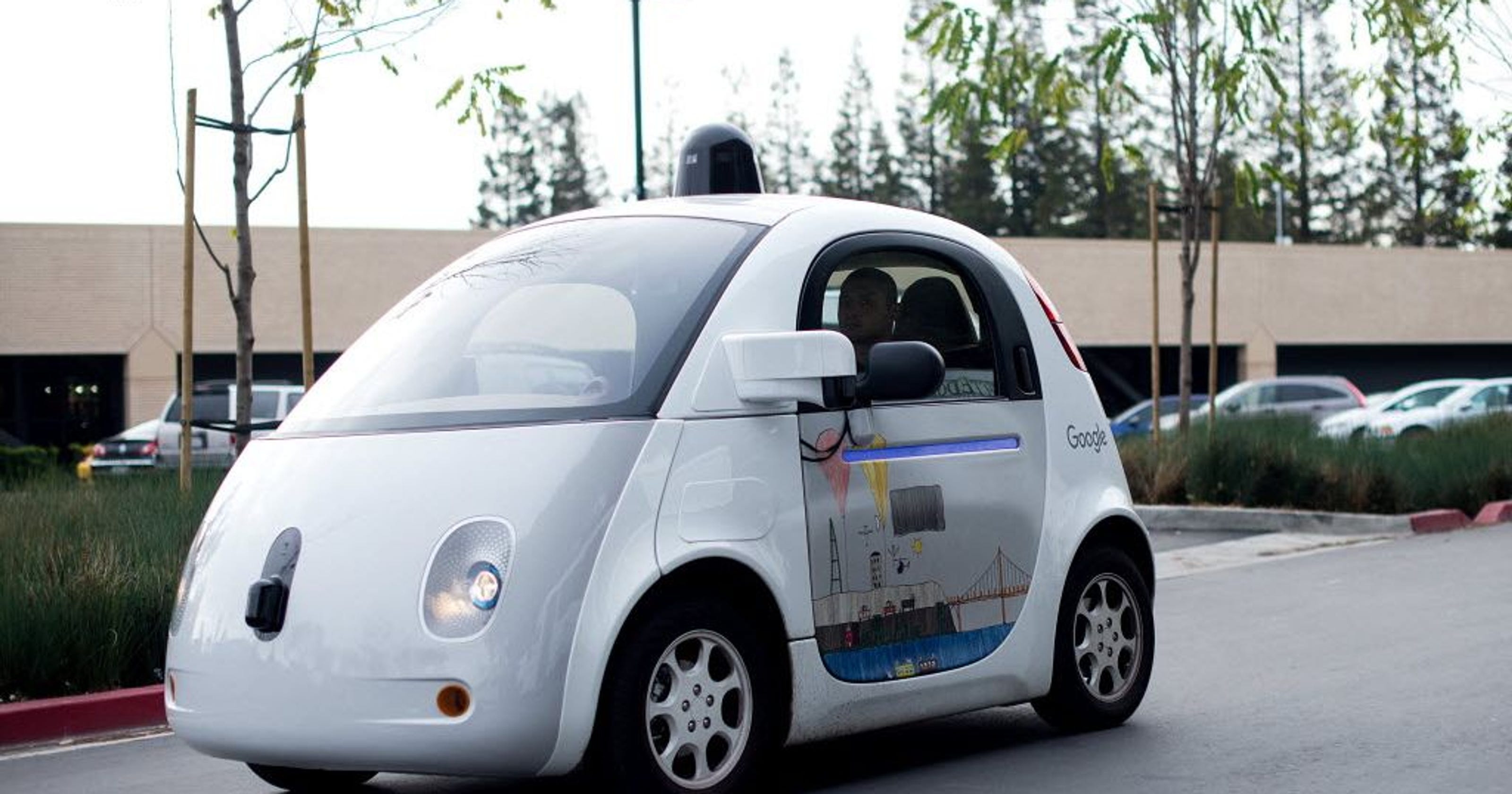 Google car hits bus, first time at fault