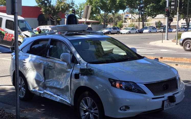 Google's self-driving car involved in serious crash after van jumps a red light