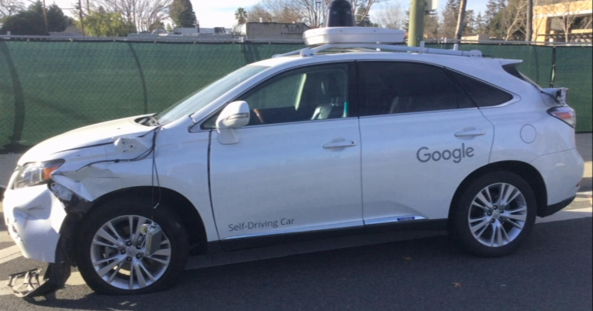 Video shows Google self-driving car hit a bus