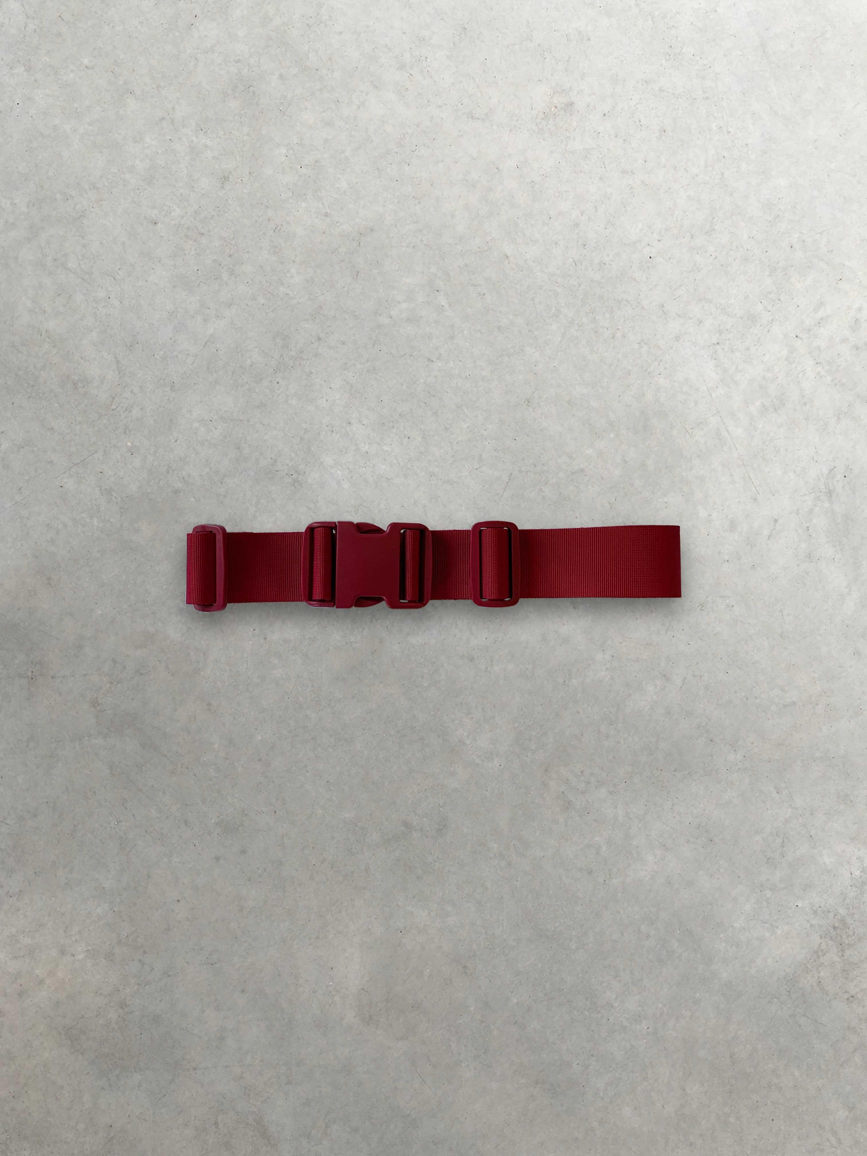 Packshot du produit Ceinture Taille Haute Rouge à Fermeture Clip de la marque Ganni