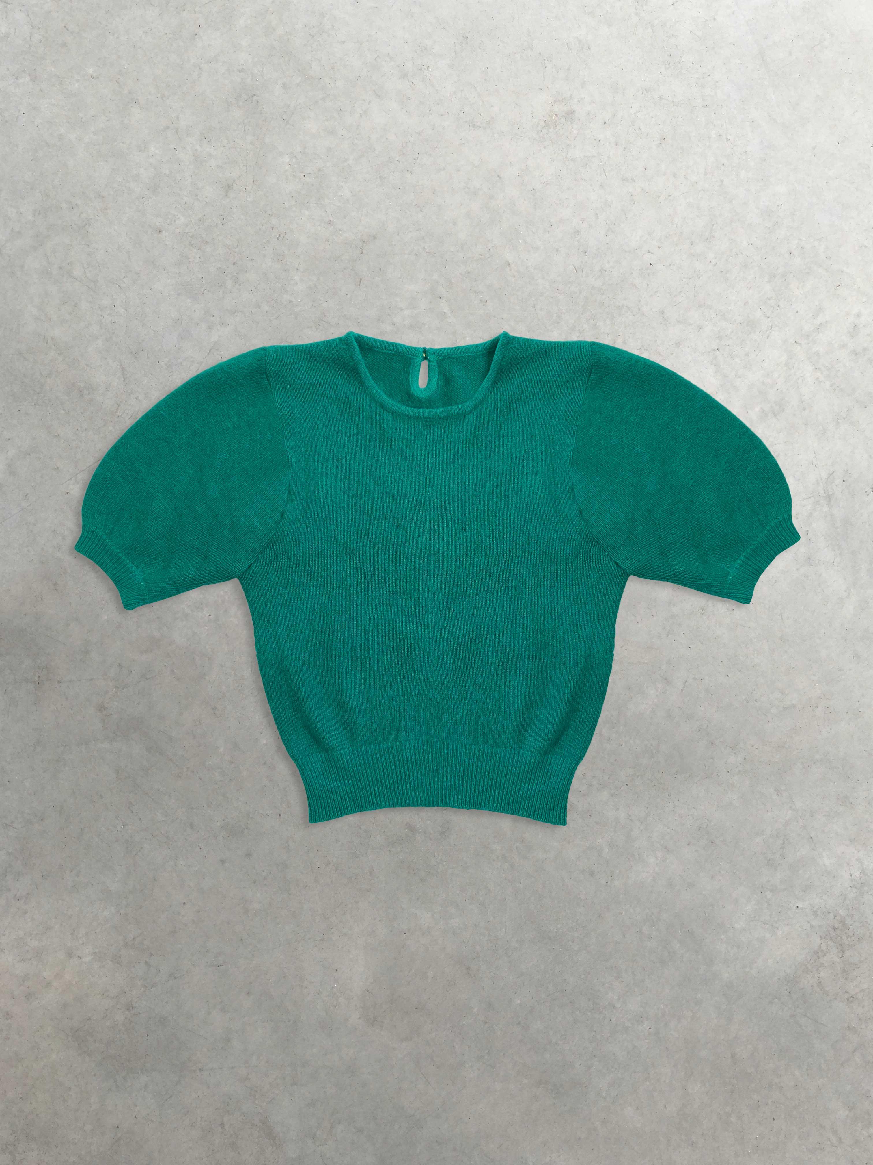 Packshot de Pull Col Rond Turquoise  par la marque Vintage