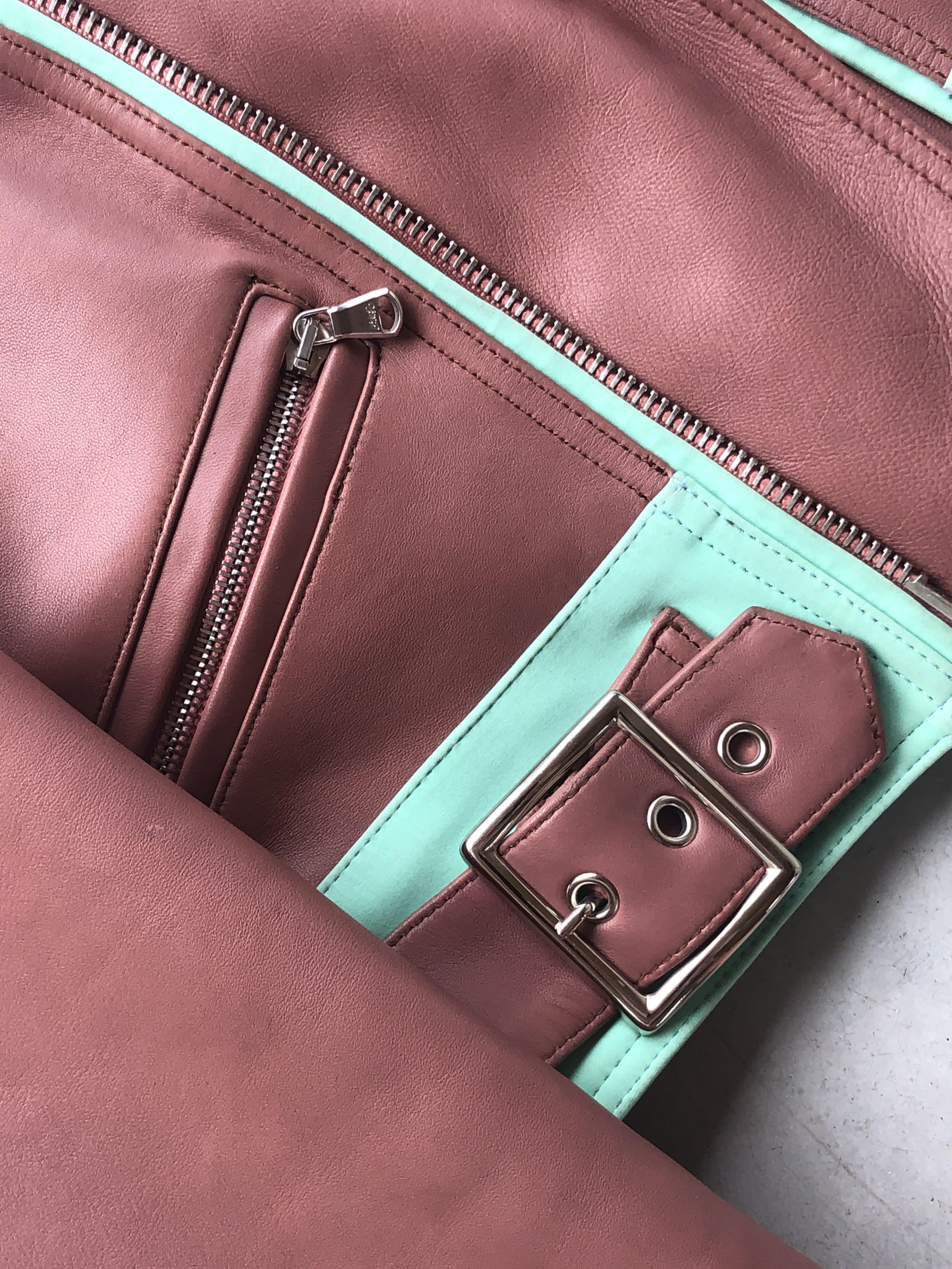 Packshot du produit Perfecto Court en Bicolor Pastel de la catégorie Vestes & Manteaux