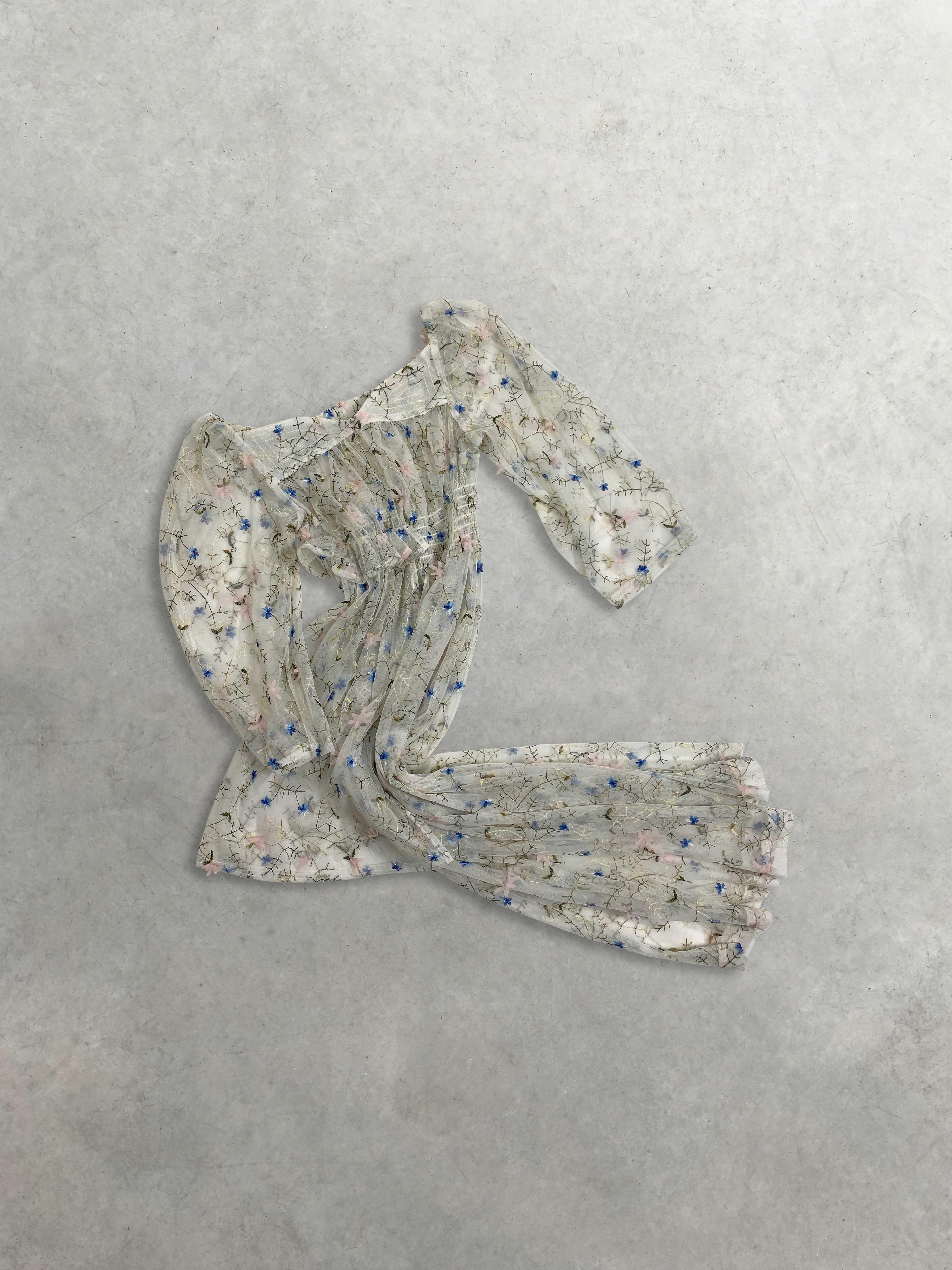 Packshot du produit Robe Transparente Brodée de Fleurs de la catégorie Robes