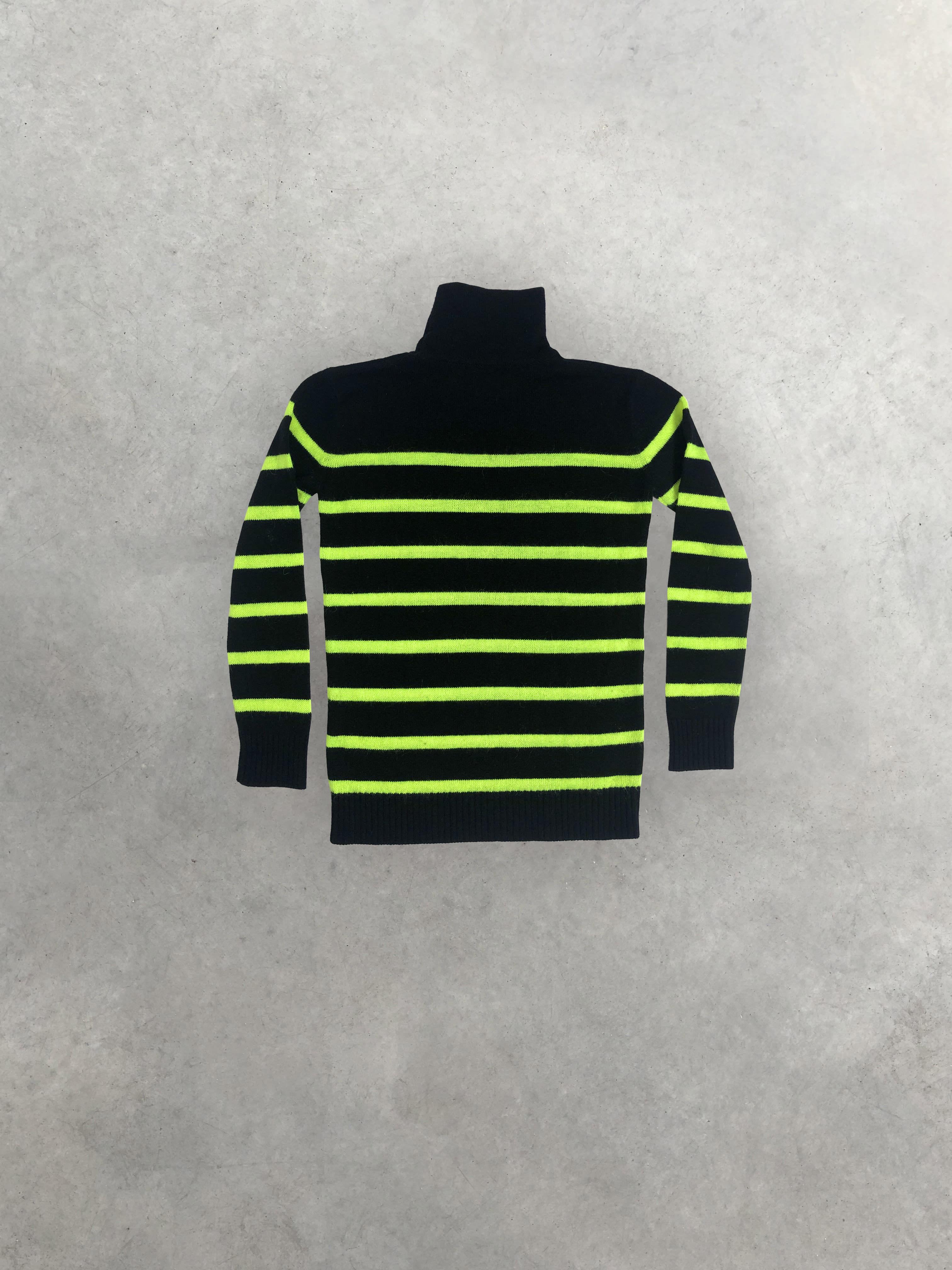 Packshot de Pull Marinière Noir et Jaune Fluo par la marque Balmain