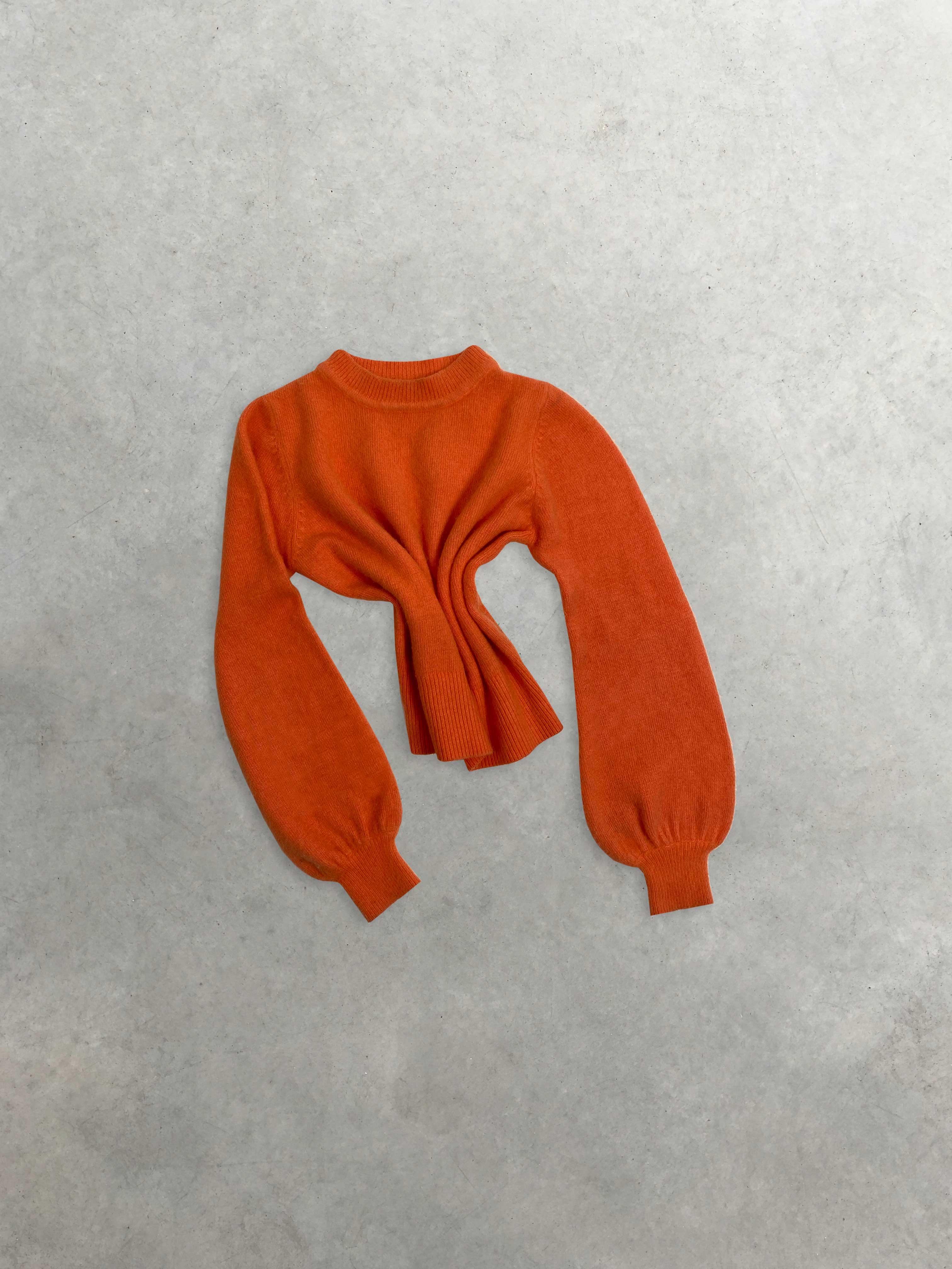 Packshot du produit Pull Col Cheminée Orange de la catégorie Pull