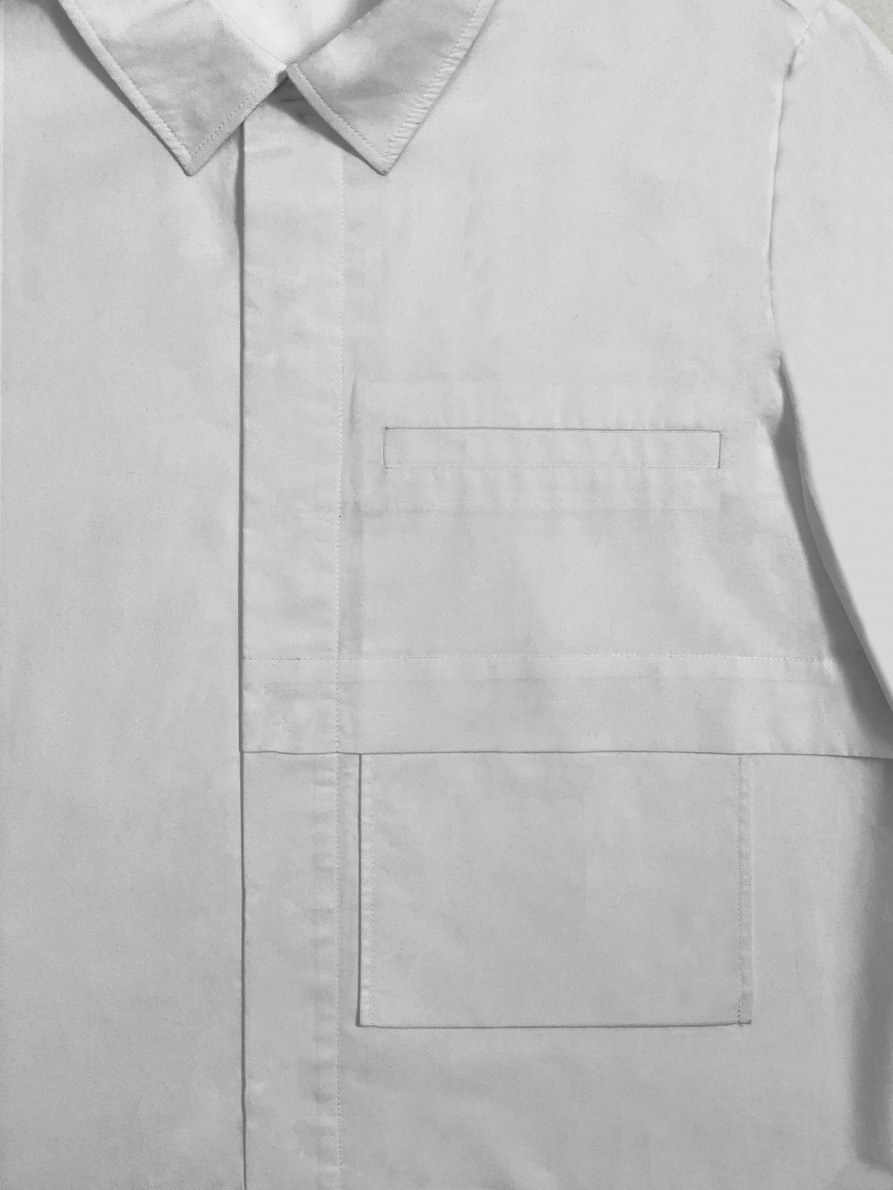 Packshot du produit Chemise en Popeline à grande poche de la catégorie Tops & Chemises