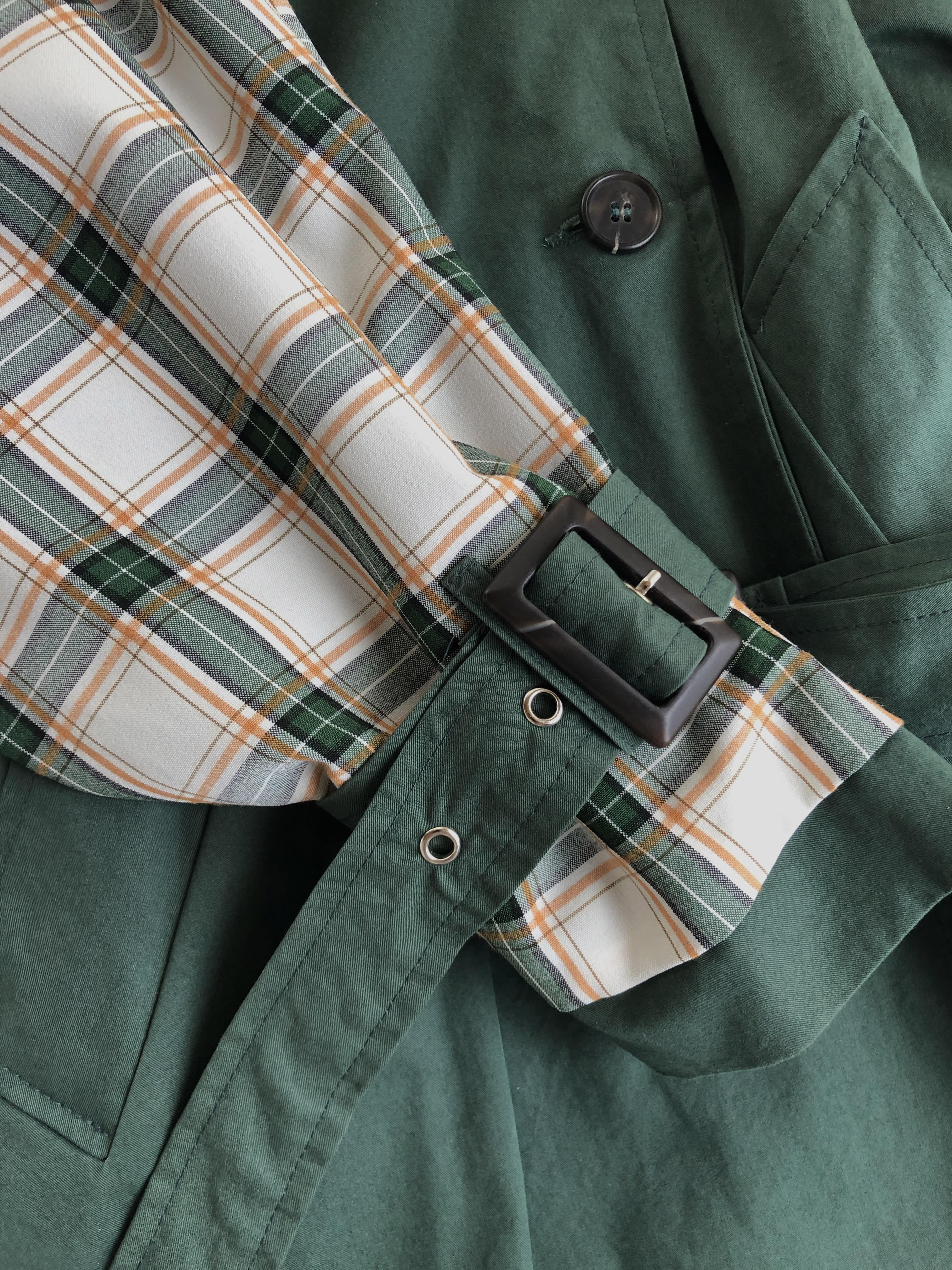 Packshot du produit Trench Tricolore Uni et Carreaux de la catégorie Vestes & Manteaux