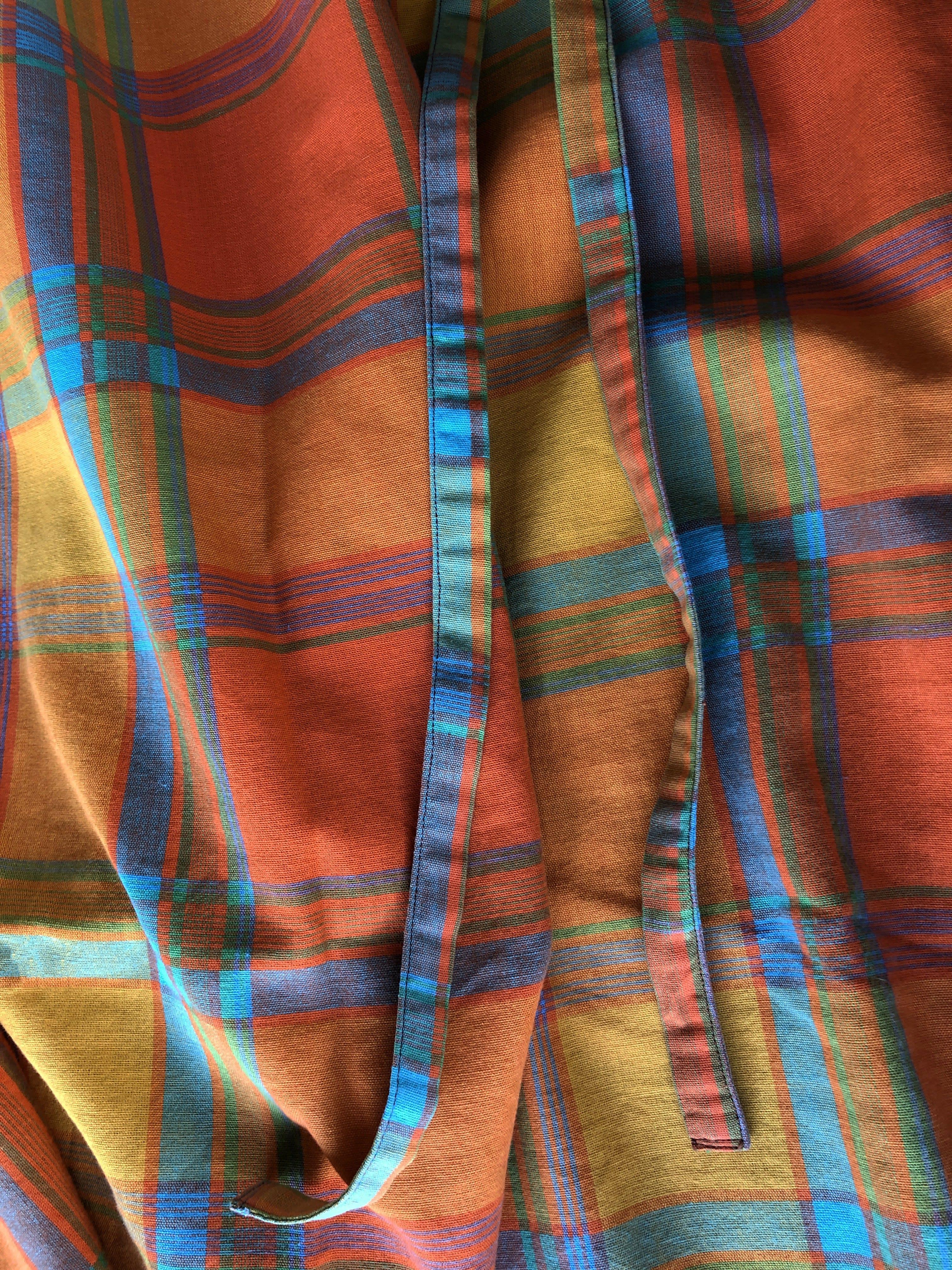 Packshot du produit Jupe Portefeuille Madras Orange de la catégorie Jupes
