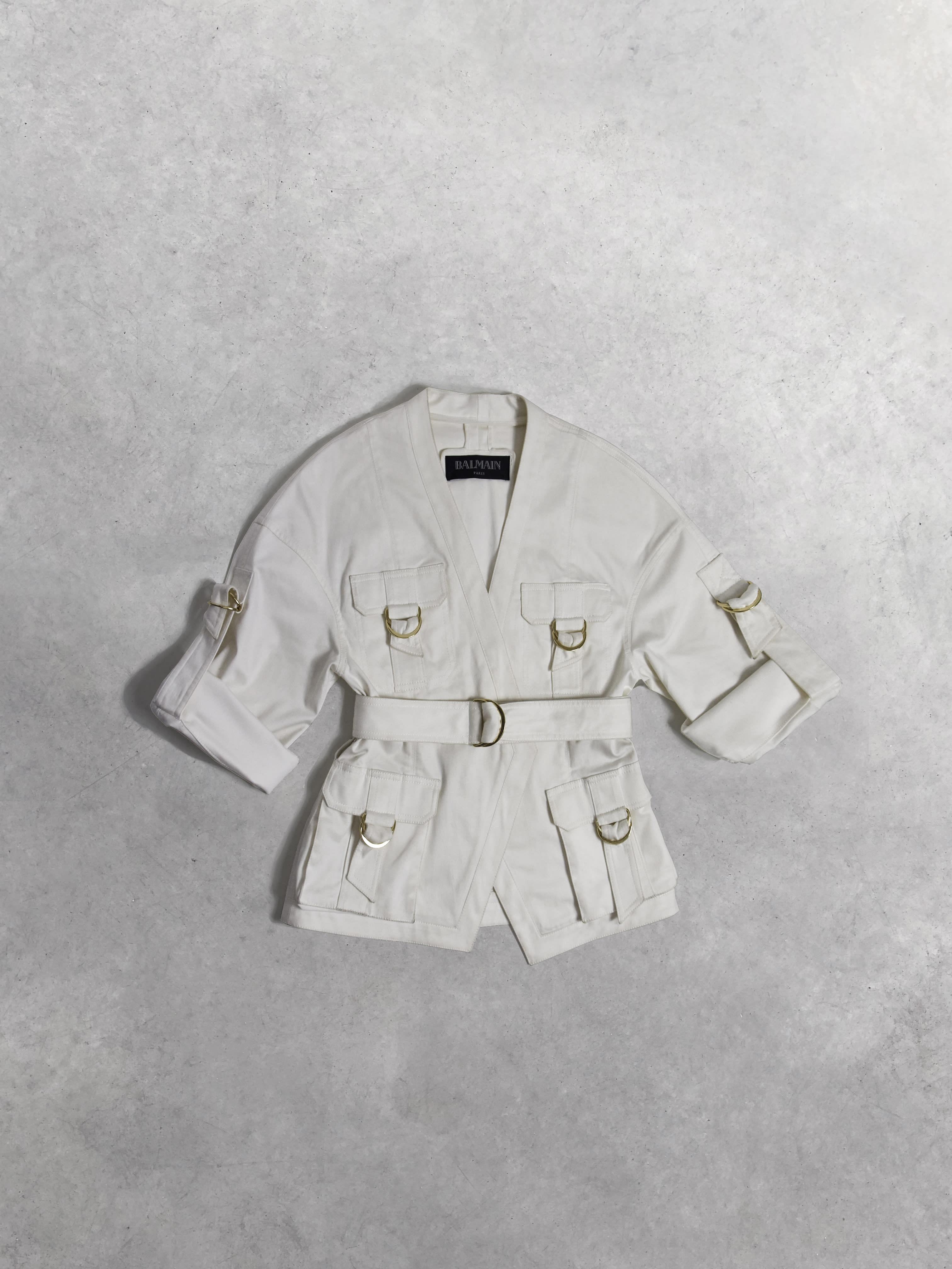 Packshot du produit Veste Saharienne en Coton Blanc de la catégorie Vestes & Manteaux