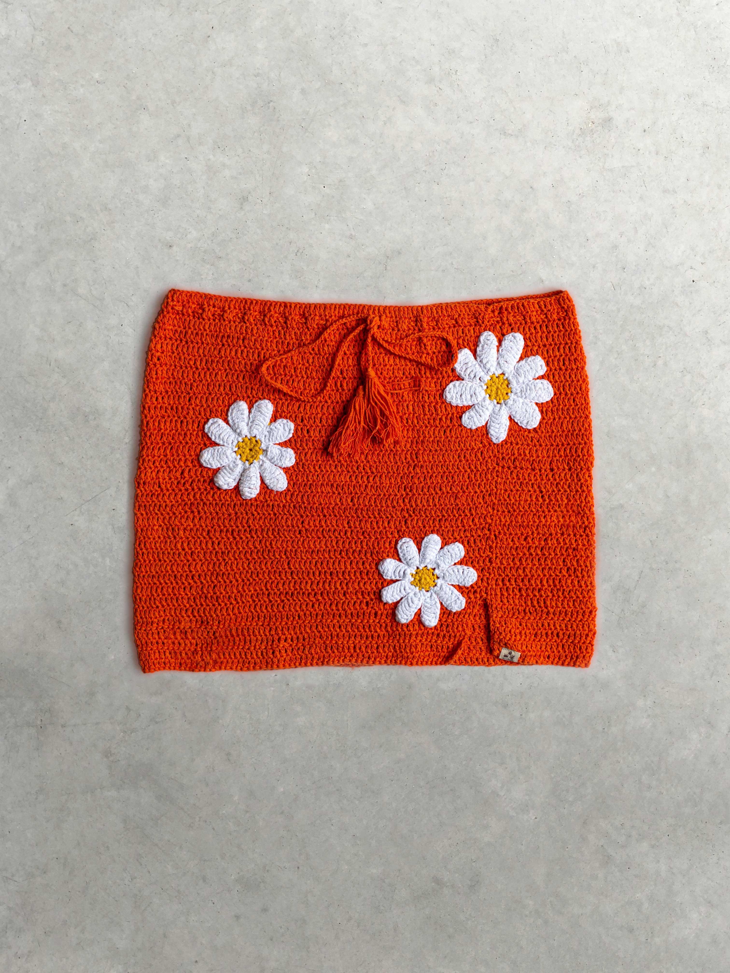 Packshot du produit Jupe crochet orange de la marque Mathilda Roks
