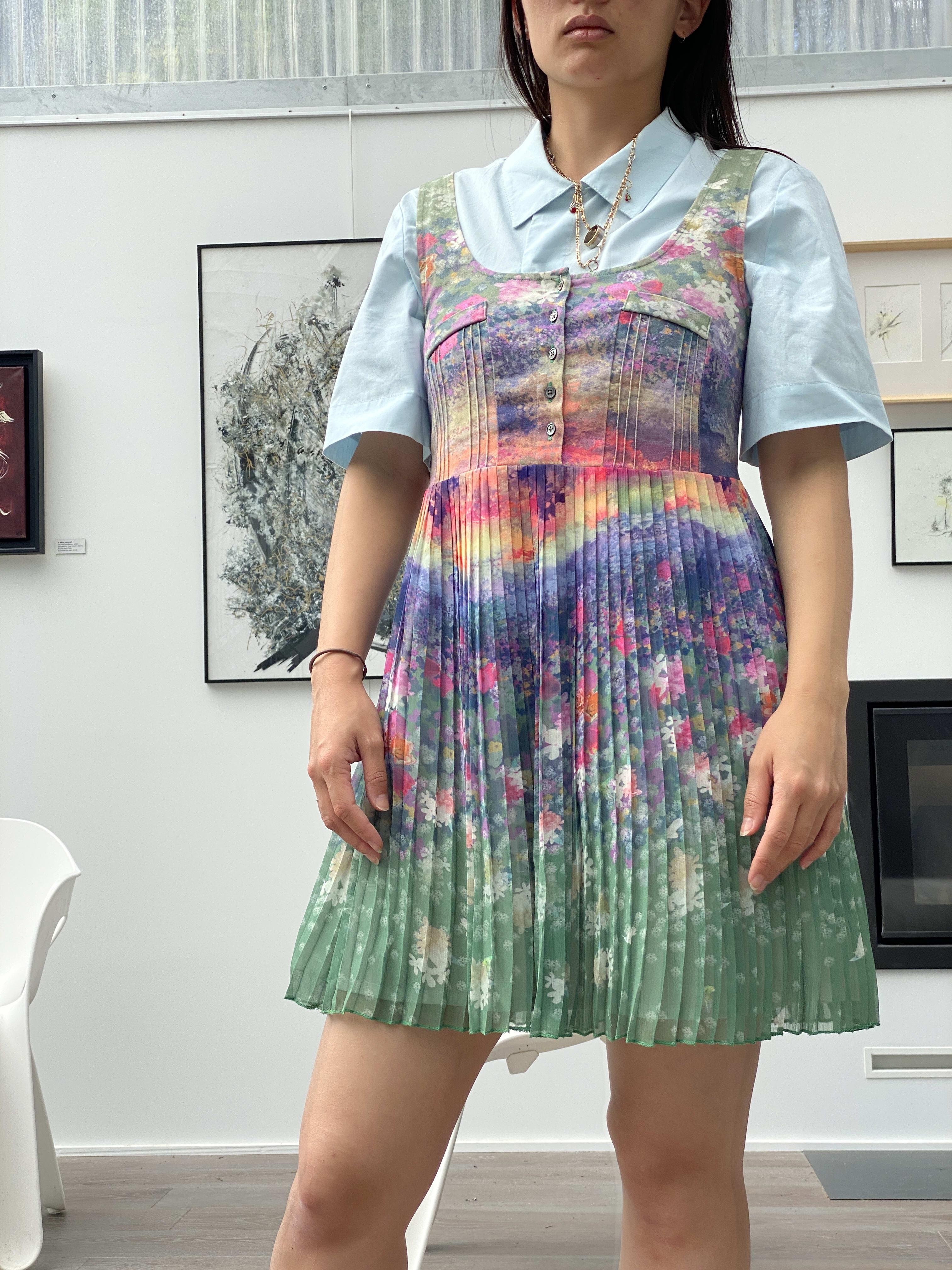 Packshot du produit Robe Plissée Imprimée Fleurie de la marque Vintage