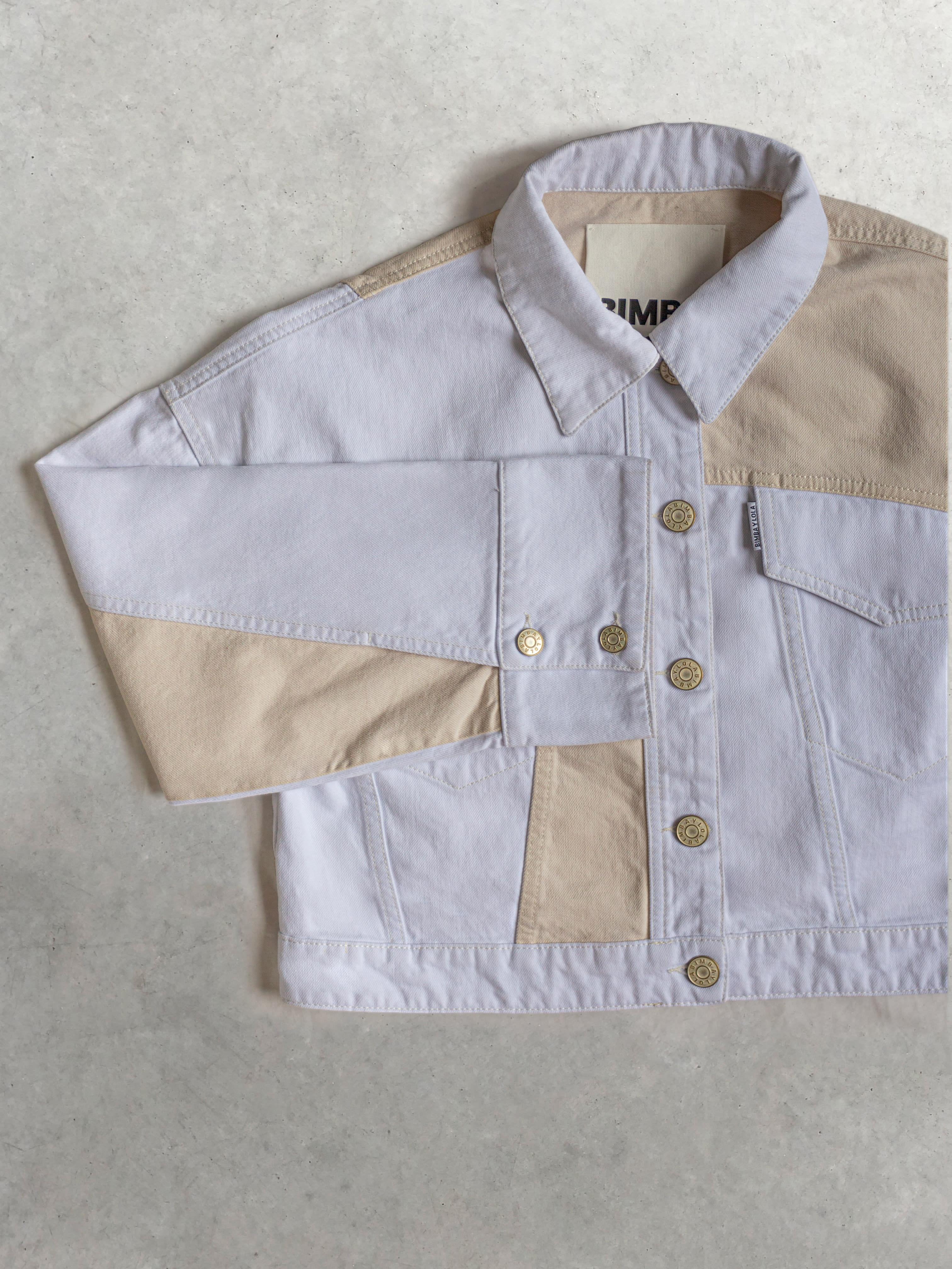 Packshot du produit Veste en jean blanc beige de la marque Bimba y Lola