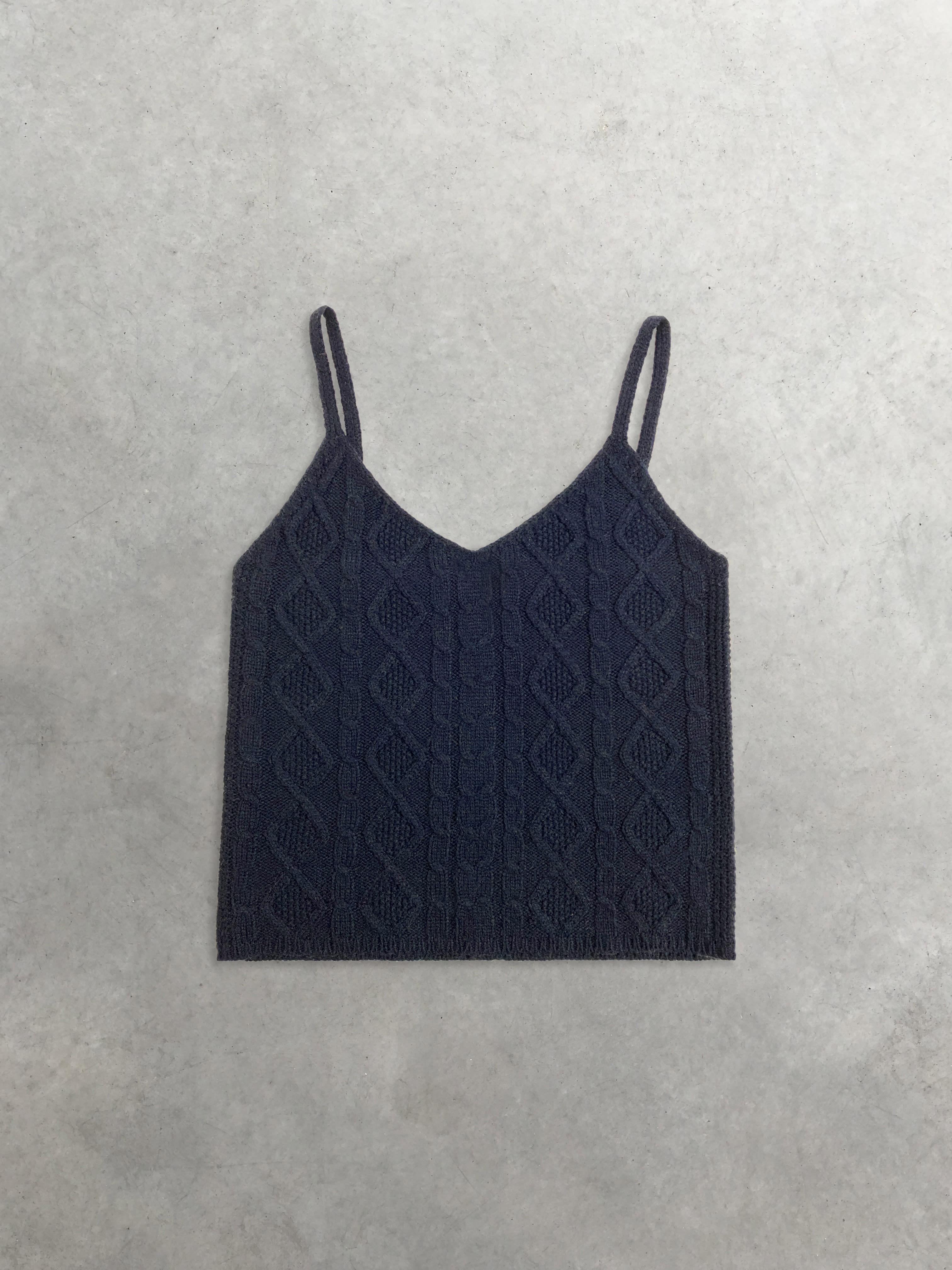 Packshot du produit Débardeur Tricoté Bleu Marine de la catégorie Pull