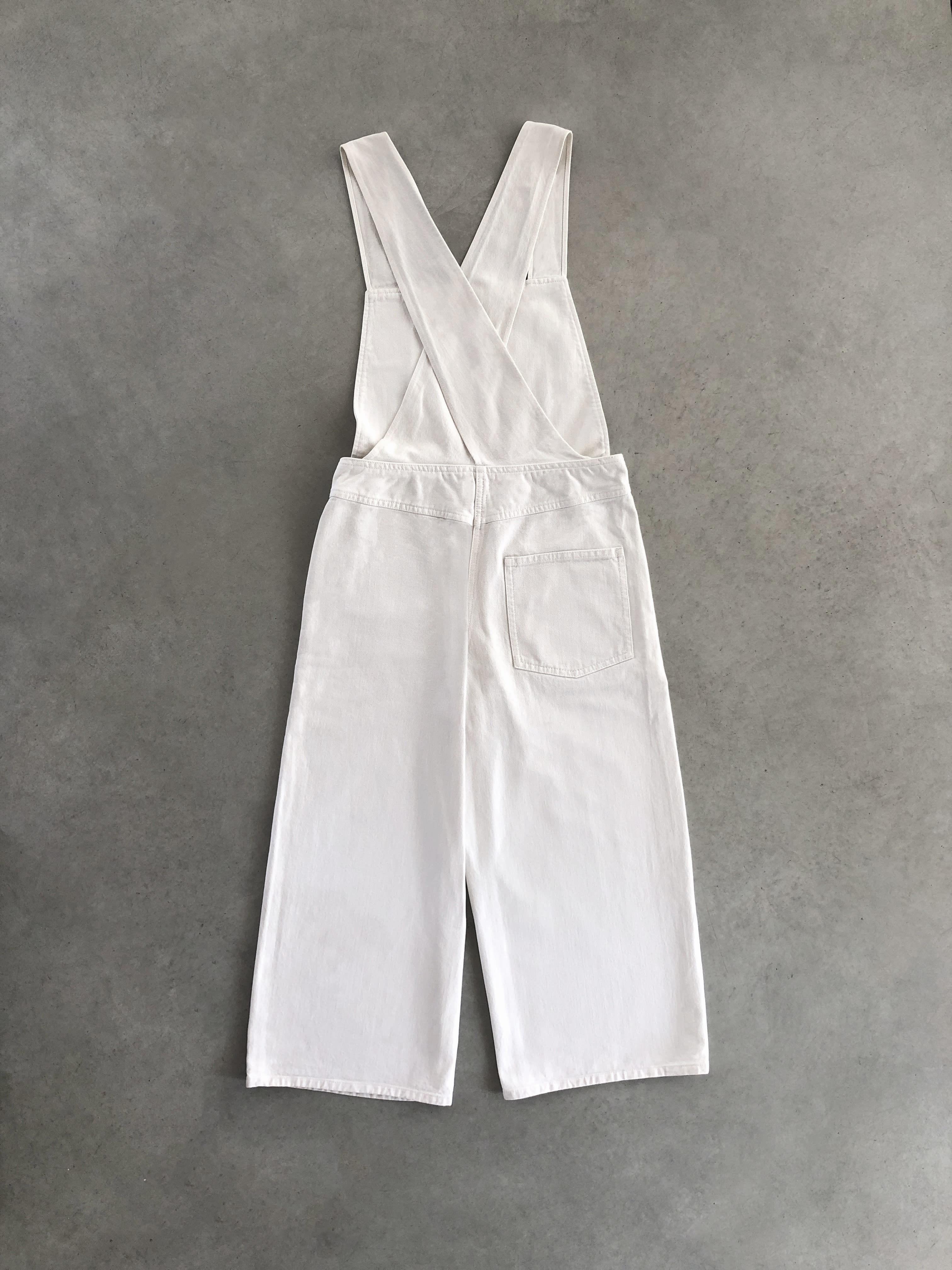 Packshot du produit Salopette en Denim Blanc de la catégorie Pantalons & Combis