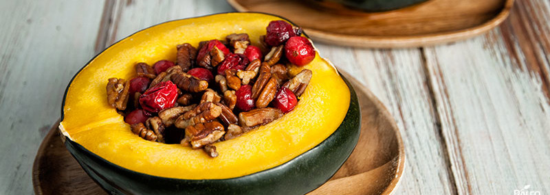 Acorn Squash with Walnuts & Cranberries