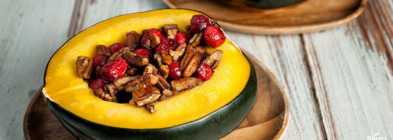 Acorn Squash with Walnuts & Cranberries