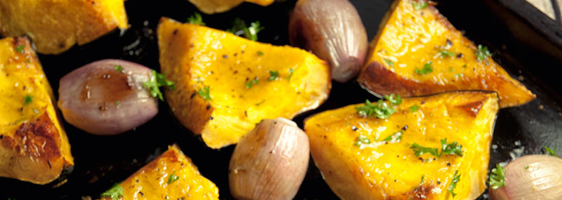 Roasted Acorn Squash And Shallots