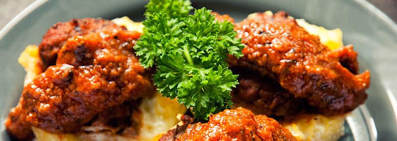 Meatball Bites with Spaghetti Squash