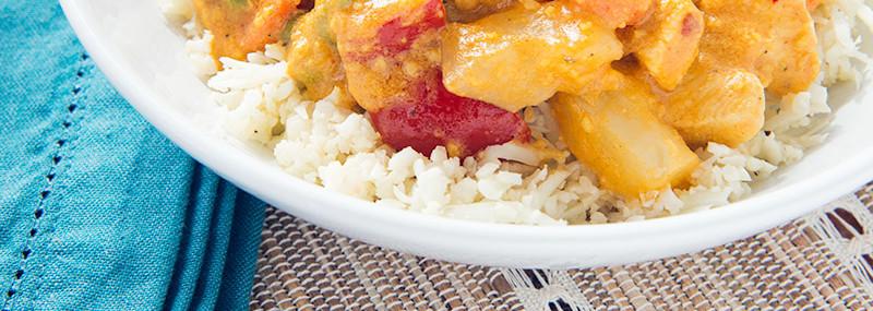 Chicken Korma With Cauliflower Rice