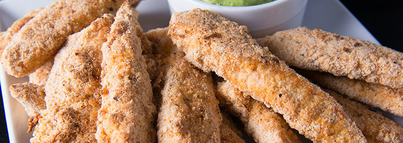Chicken Tenders With Avocado-Cilantro Dip