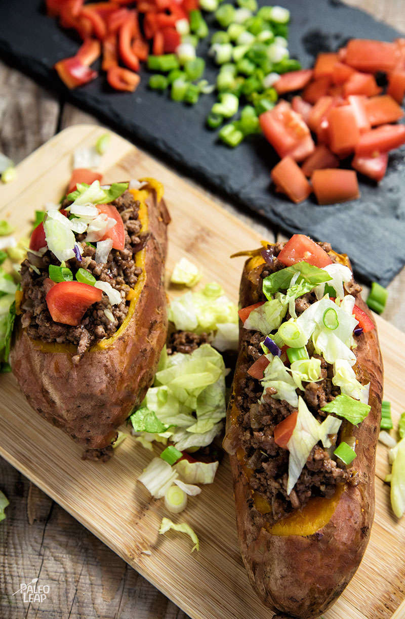 Taco-Stuffed Sweet Potatoes | Paleo Leap