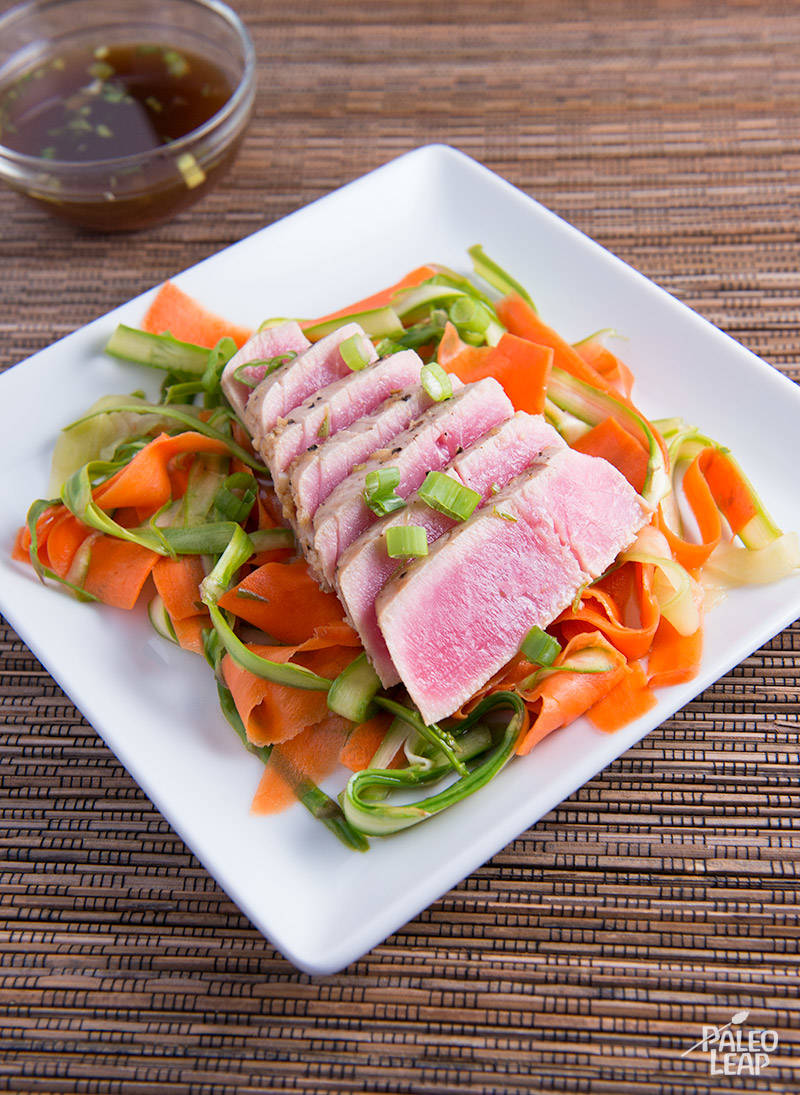 Asian Marinated Tuna with Shaved Salad