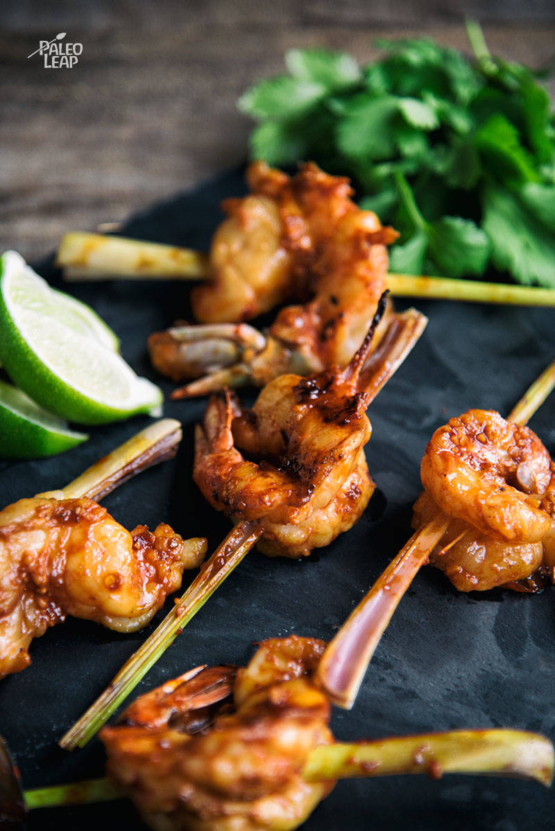 Lemongrass-Skewered Spicy Shrimp