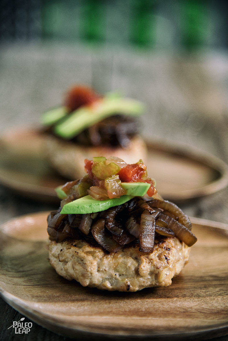 Chicken Burger With Balsamic Caramelized Onion