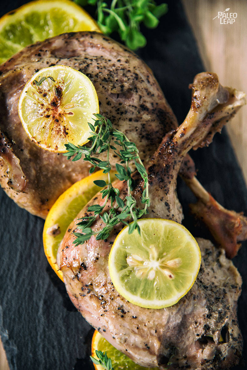 Orange And Lemon Roasted Duck