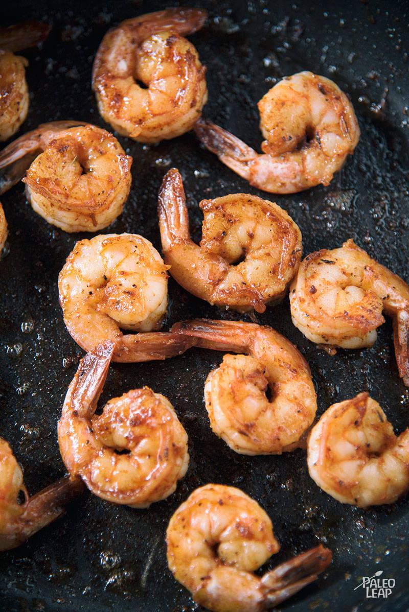 Shrimp Salad preparation