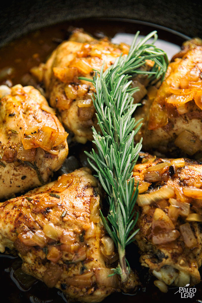 Rosemary And Onion Roast Chicken