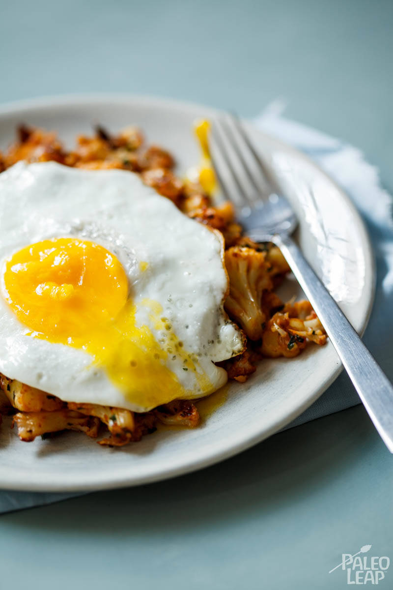 Cauliflower Hash With Eggs