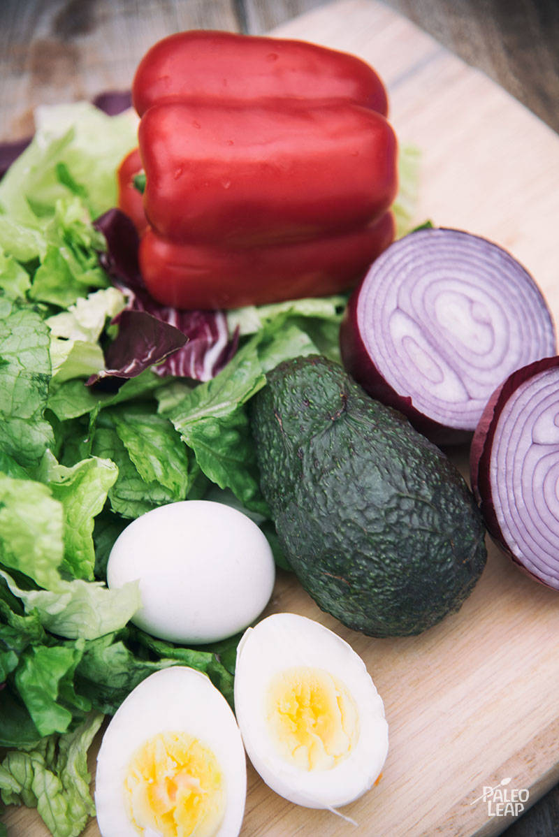 Egg And Avocado Salad preparation