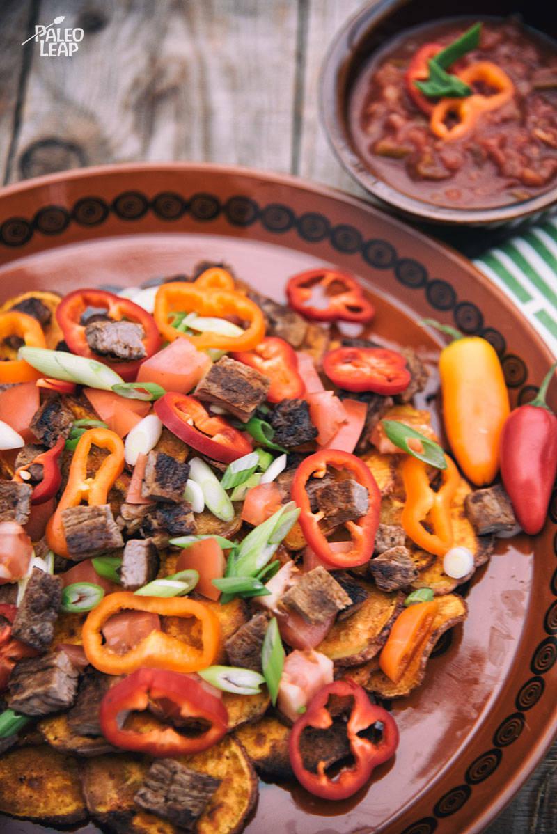 Steak Sweet Potato Nachos