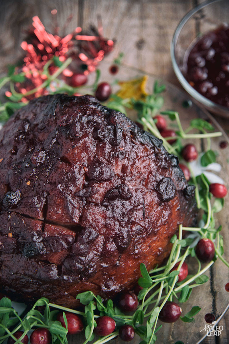 Cranberry-Glazed Oven Roasted Ham