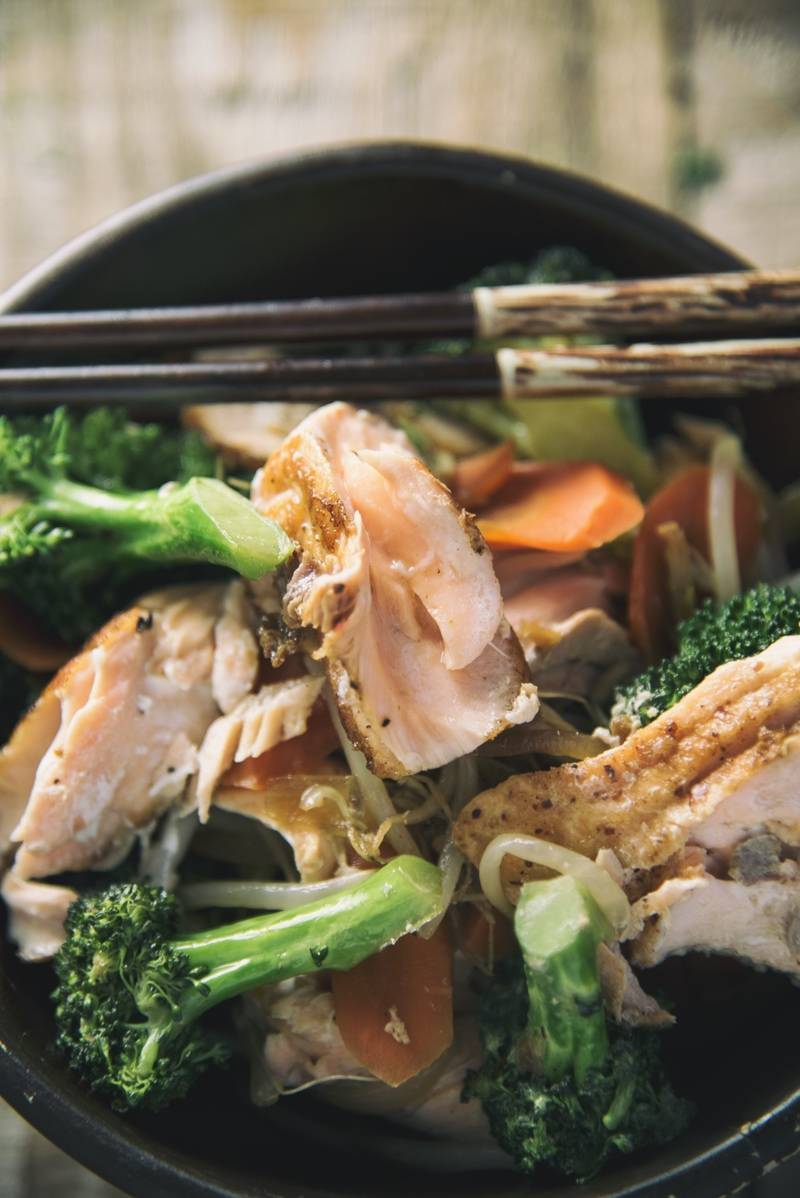 Teriyaki-Style Salmon With Veggies