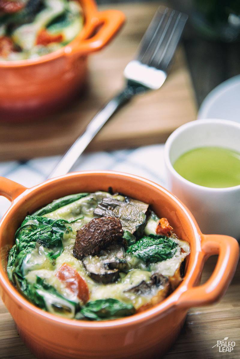 Oven-Baked Vegetable Omelettes Recipe