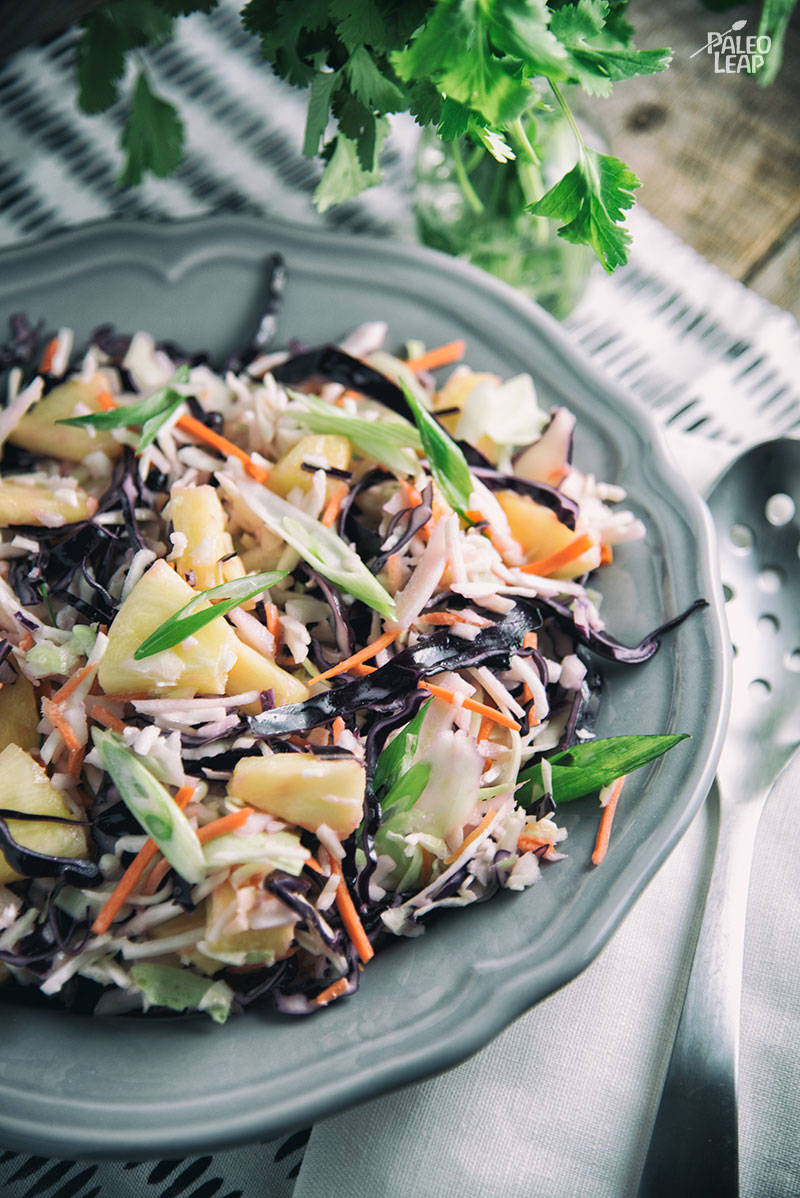 Pineapple Cabbage Coleslaw