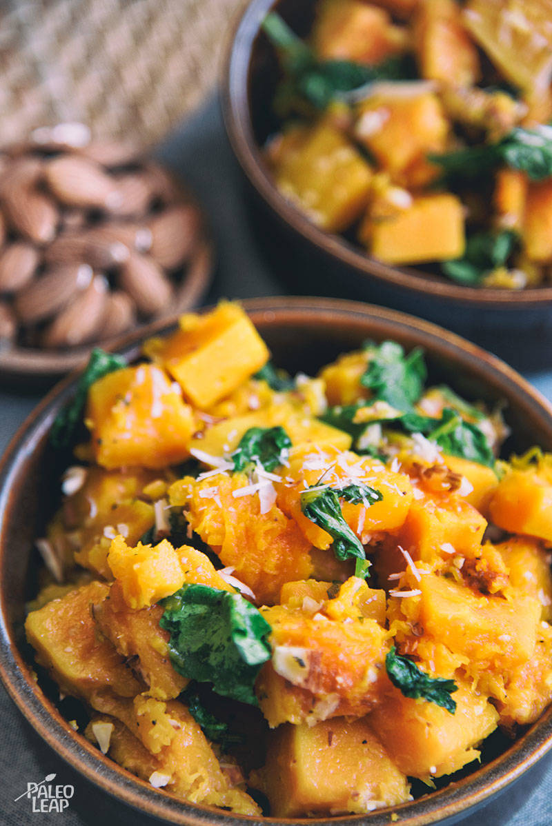 Oven-Roasted Butternut Squash And Kale