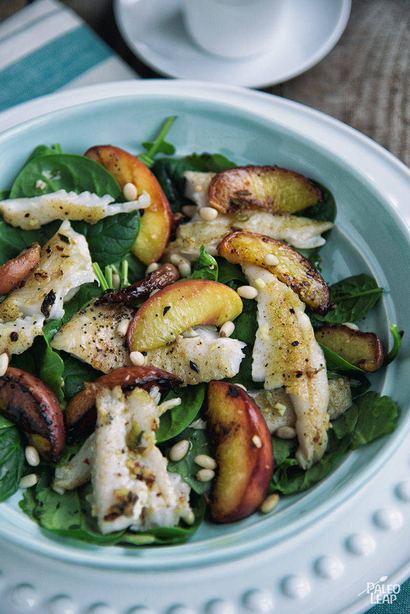 Peach and white fish salad paleo leap for White fish salad