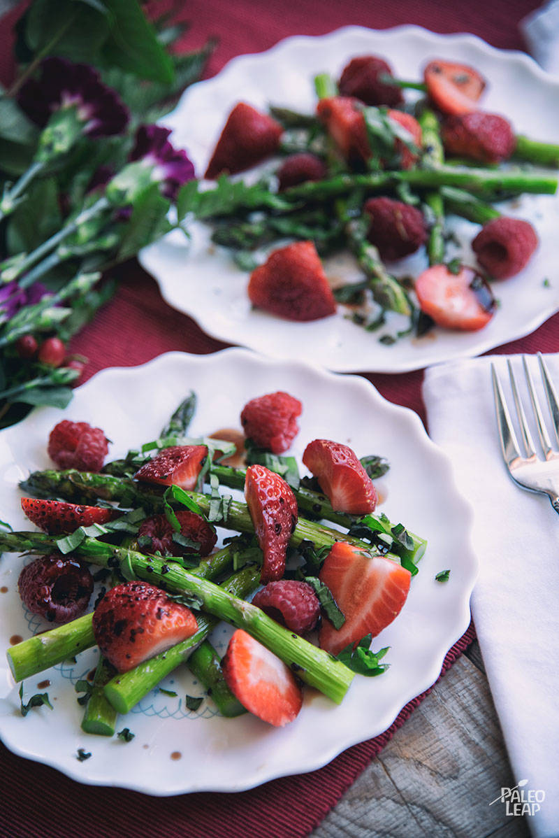Strawberry, Raspberry, And Asparagus Recipe