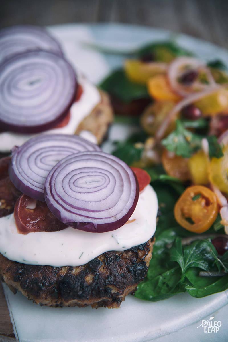 Mediterranean-Style Chicken Burgers Recipe