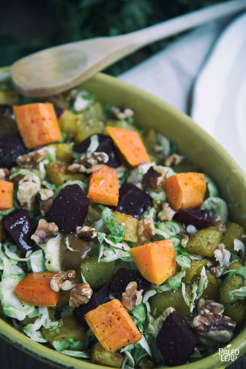Roasted Vegetable and Brussels Sprouts Salad Recipe