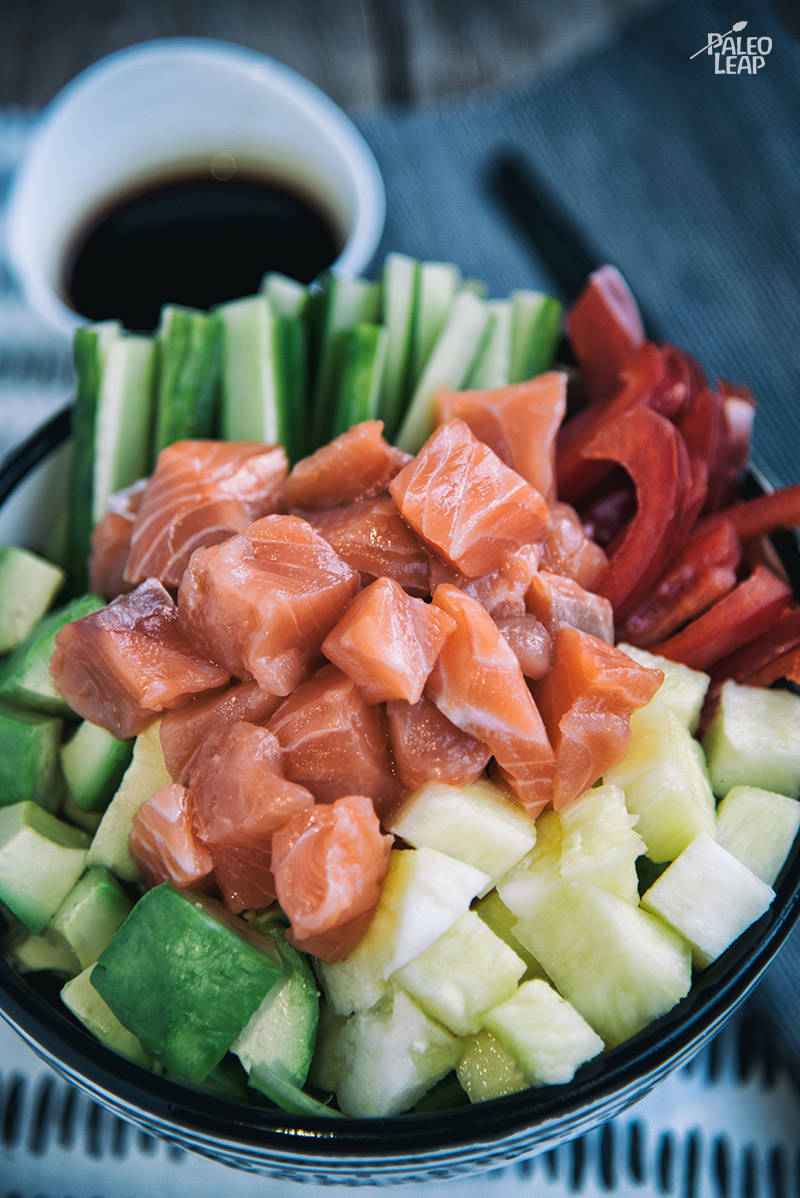 Salmon Poke Bowls With Pineapple And Avocado Recipe