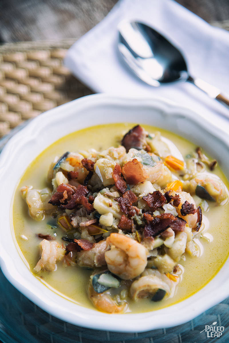 Bacon, Shrimp And Fish Chowder Recipe